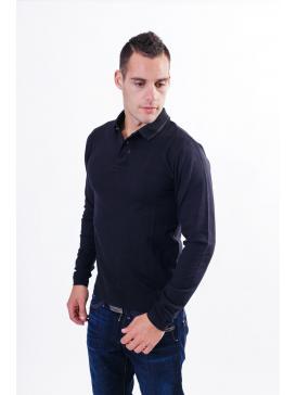 REPLAY μπλούζα, γιακάς, μεταλλικά κουμπάκια