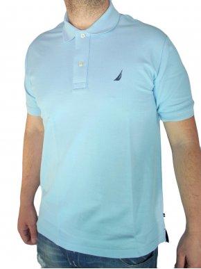 NAUTICA Πικέ πόλο μπλουζάκι, γαλάζιο