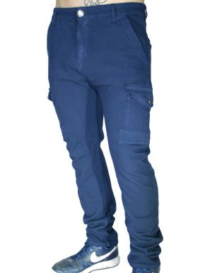 RED ROCK Skinny fit cargo παντελόνι, λοξές τσέπες
