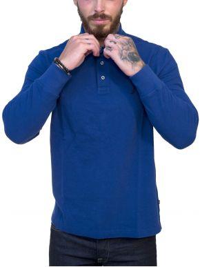 NAUTICA Ανδρική μπλέ ρουά μπλούζα