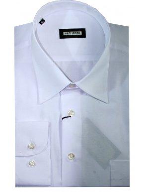 RED ROCK Μακρυμάνικο Oxford λευκό πουκάμισο