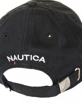 NAUTICA Ανδρικό μαύρο καπέλο με λογότυπο