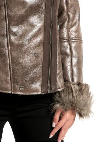 S.OLIVER Τζάκετ μπουφάν με γούνινη επένδυση