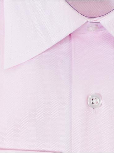 RR Ροζ ανοιχτό ψιλόριγο γραβατοπουκάμισο