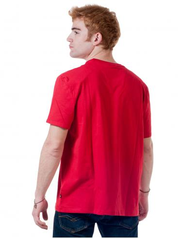 NAUTICA Ανδρική κόκκινη μπλούζα T-Shirt, τσεπάκι