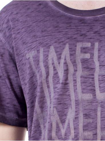 REPLAY Συλλεκτική μώβ φλάμα άνετη μπλούζα T-Shirt, M6625L.00021026F.479