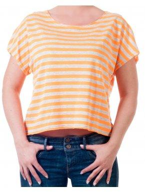 More about Κοντομάνικο κοντό ριγέ πορτοκαλί μπλουζάκι