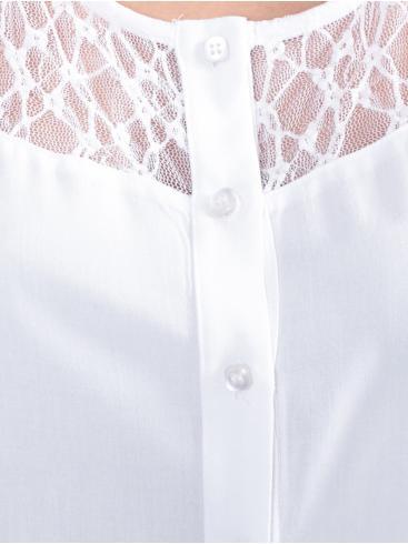 Ασύμμετρη τουνίκ πουκαμίσα, δαντέλα