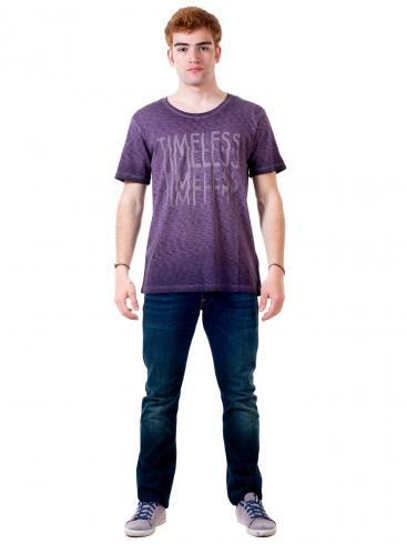 REPLAY Συλλεκτική φλάμα άνετη μπλούζα
