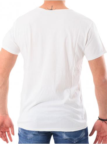 O'NEILL Slim fit λευκή μπλούζα με V