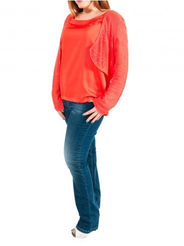 S.OLIVER Βισκόζ αμάνικο σατέν μπλουζάκι