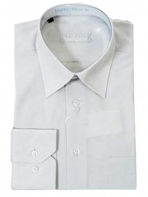 RR Ανδρικό μακρυμάνικο μονόχρωμο πουκάμισο