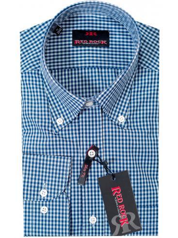 RED ROCK slim fit ψιλό καρό πουκάμισο