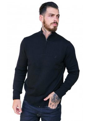 NAUTICA Ανδρικό πλεκτό μαύρο πουλόβερ