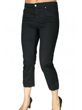 SARAH LAWRENCE Ψηλόμεσο μαύρο κάπρι παντελόνι