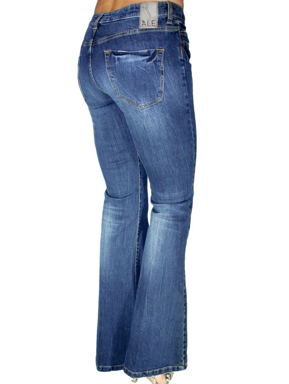 ALE Ελαστικό χαμηλοκάβαλο παντελόνι καμπάνα - TOPTENFASHION.gr 2e97f96f12e