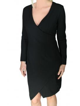 ZINO JORDAN Ελαστικό μακρυμάνικο κρουαζέ κρέπ φόρεμα