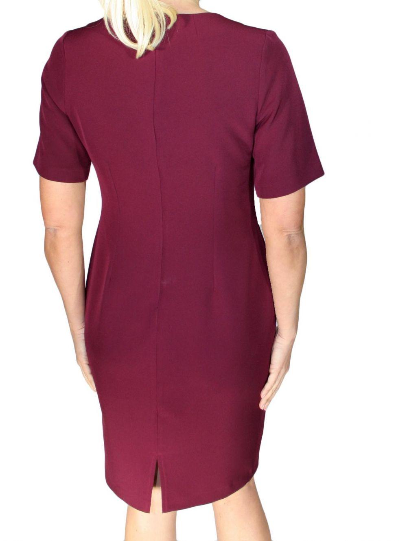 ZINO JORDAN Ελαστικό κοντομάνικο κρεπ φόρεμα - TOPTENFASHION.gr fece32eeece