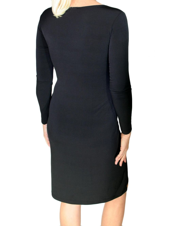 ZINO JORDAN Ελαστικό μακρυμάνικο φόρεμα - TOPTENFASHION.gr 122bc6b31ff
