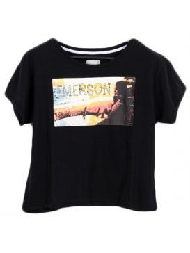 EMERSON. Κοντομάνικο μπλουζάκι με στάμπα
