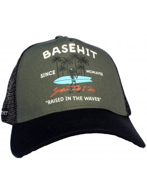 BASEHIT Καπέλο φιλέ, CP1759-Olive/Black