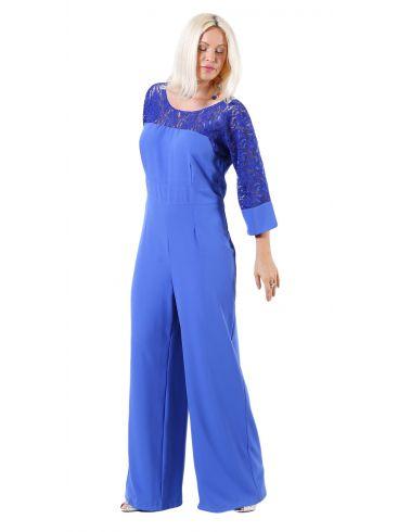 ZINO JORDAN Ολόσωμη φόρμα παντελόνι, δαντελωτό μανίκι