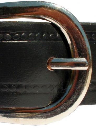 Ανδρική Ιταλική στενή δερμάτινη ζώνη, μαύρο χρώμα
