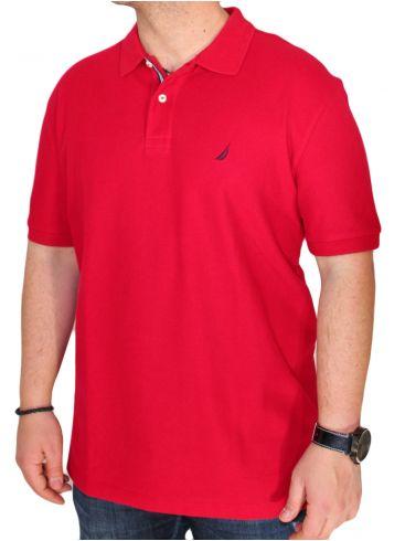 NAUTICA Ανδρικό μπλουζάκι πόλο, σκίσιμο πλάι