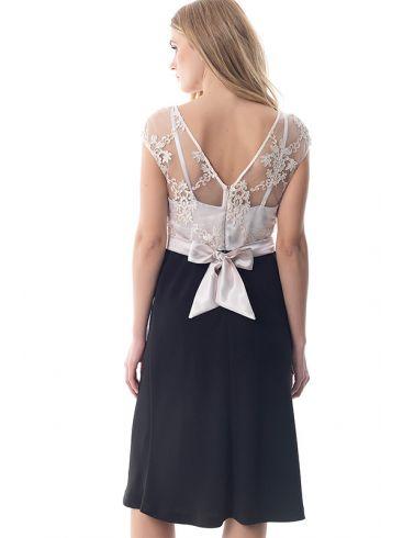 VENER Αμάνικο φόρεμα με δαντέλα και εσωτερική επένδυση