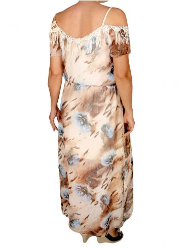 FEMALE Βραδινό αμάνικο φόρεμα μουσελίνα