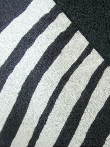 SARAH LAWRENCE Έθνικ ασπρόμαυρο ζακάρ φόρεμα