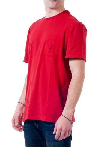 NAUTICA Ανδρική κόκκινη μπλούζα, τσεπάκι