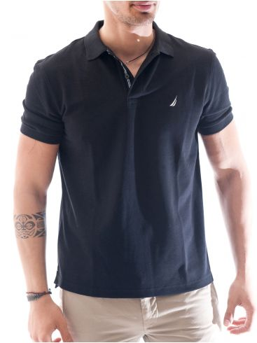 NAUTICA Ανδρικό μαύρο κοντομάνικο μπλουζάκι