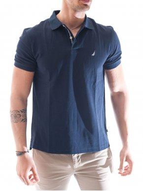 NAUTICA Ανδρικό μπλε navy μπλουζάκι πόλο  big & tall ZY8101-4NV Navy