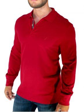 NAUTICA Πικέ κόκκινη πόλο μπλούζα με γιακά