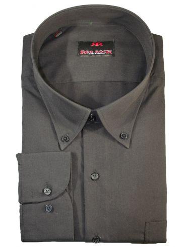 RED ROCK Υπερμέγεθος μαύρο πουκάμισο, άνετη γραμμή