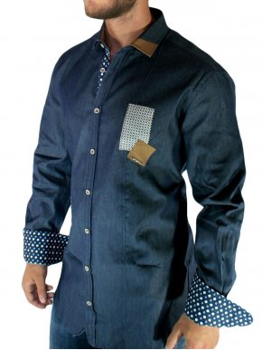 More about STEFAN Μακρύ τζιν slim fit ελαστικό fashion πουκάμισο