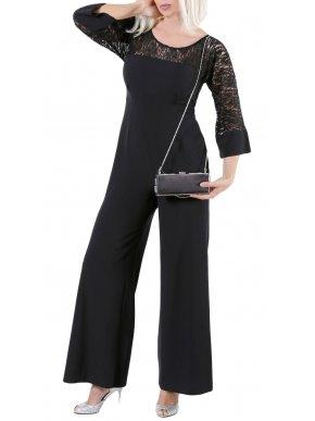 More about ZINO JORDAN Μάξι ολόσωμη φόρμα παντελόνι, δαντελωτό μανίκι