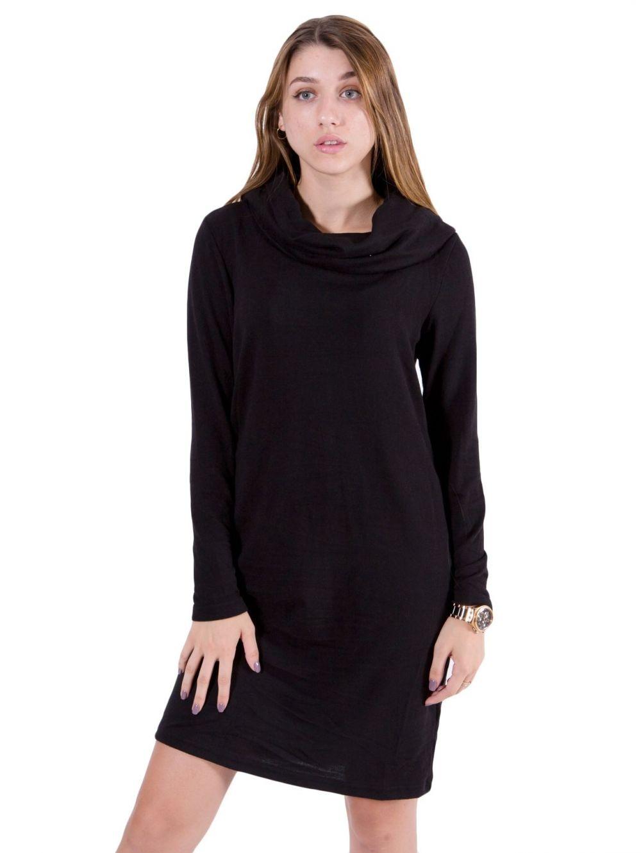 e61c1cd6f8dd FRANSA Γυναικείο μαύρο πλεκτό μίντι φόρεμα