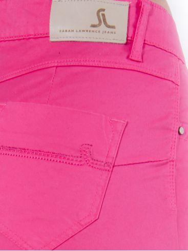SARAH LAWRENCE Γυναικείο ρόζ ψιλοκάβαλο ελαστικό παντελόνι καπαρντίνας