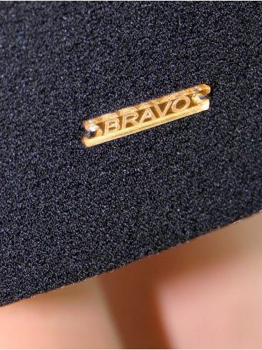 BRAVO Μακρυμάνικο μαύρο φόρεμα, άνετη γραμμή