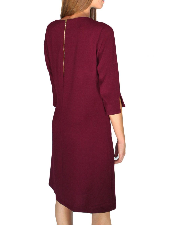 BRAVO Μακρυμάνικο μπορντό φόρεμα cacfcd3f54f