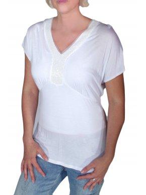 More about PERSONA Αμπίρ λευκή μπλουζάκι, διακοσμητικά στο στήθος