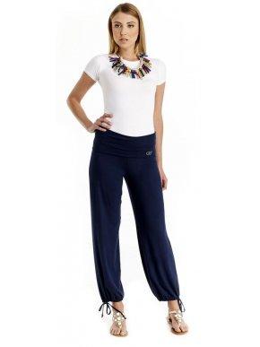 BRAVO Γυναικεία ελαστική παντελόνα, μπλέ Navy