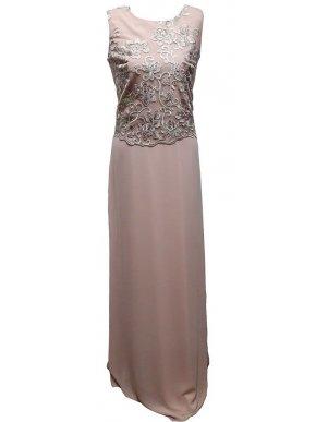 VETO Αμάνικο μάξι φόρεμα, ύφασμα μουσελίνας, επιπλέον ύφασμα δαντέλας