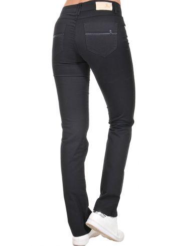 SARAH LAWRENCE Γυναικείο μαύρο ελαστικό ίσιο regular waist υφασμάτινο παντελόνι