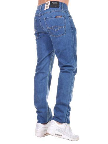 RED ROCK Ανδρικό ψιλοκάβαλο ίσιο πετροπλυμένο παντελόνι τζιν, τύπου Levis 501
