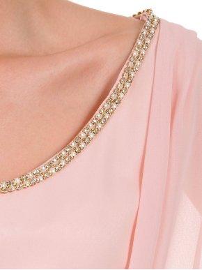 BRAVO Αμάνικο ρόζ φόρεμα, διακοσμητικά στράς