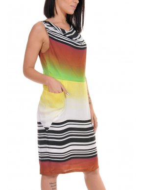 More about SARAH LAWRENCE Αμάνικο πολύχρωμο ντραπέ φόρεμα