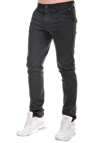 BASEHIT Ανδρικό τσίνος ελαστικό παντελόνι, SMP1790 Off-Black
